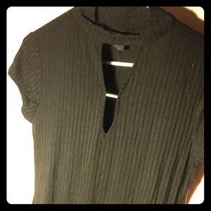 BEBOP- Black, Keyhole, Ribbed, T-shirt Mini Dress